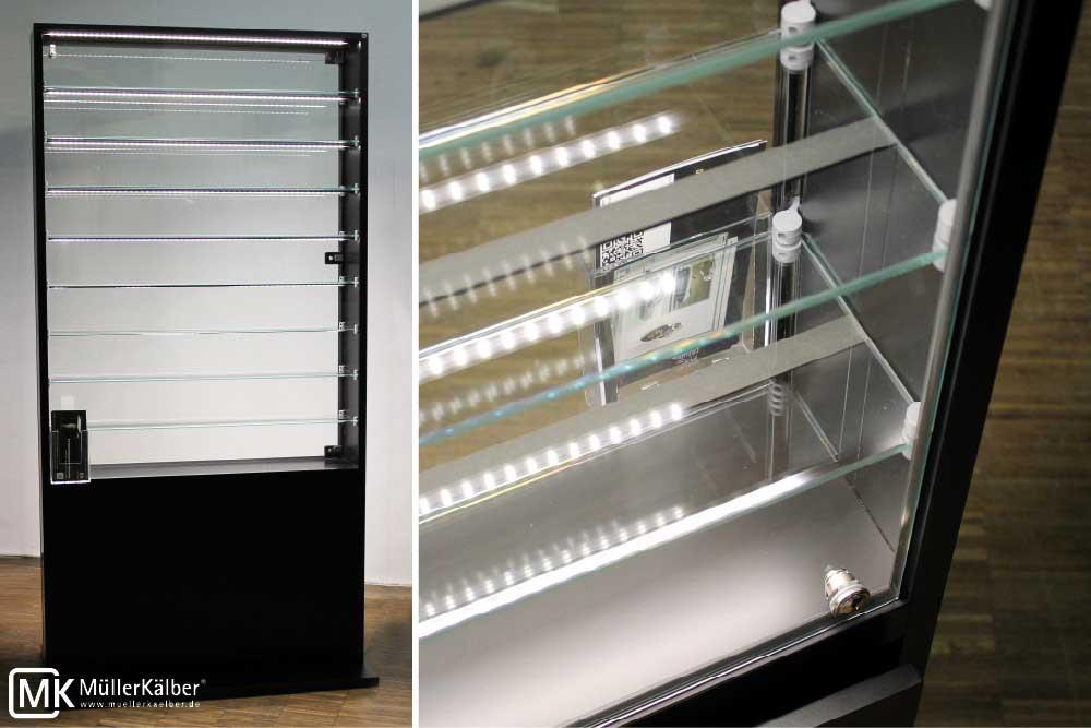 sammlervitrine mit glasfachb den f r modellautos m 1 18 m llerk lber gmbh. Black Bedroom Furniture Sets. Home Design Ideas