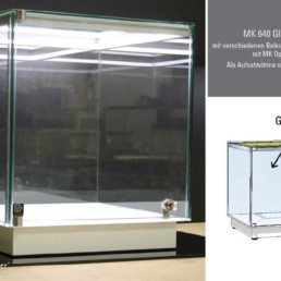 Aufsatzvitrine MK 640 Glasaufsatz mit LED Beleuchtung MK OptiLight 02