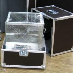 Flightcase für Aufsatzvitrine MK 640 Glasaufsatz