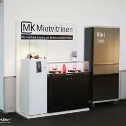 MK Theke und MK 640 Sockelvitrine als Mietvitrine
