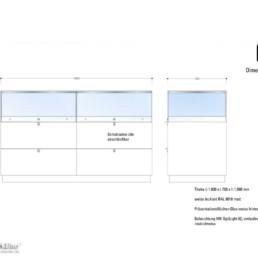 MK Mittelraumvitrine für Schmuckpräsentation mit MK OptiLight 02 LED-Beleuchtung