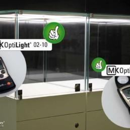 Links MK OptiLight 02-10, rechts MK OptiLight 02