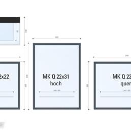 MK Q-Wandvitrinenserie 1.0