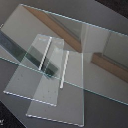 Mk Spuckschutz aus Glas, zerlegt
